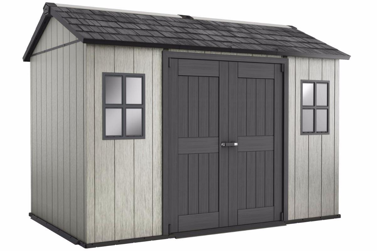Plastic sheds plastic garden sheds oakland 1175 for Casetas de metal para jardin