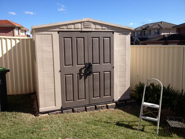 Plastic Sheds Completed Install